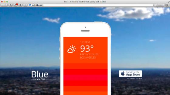 Hava Durumunu Renklerle Anlatan Mobil Uygulama: Blue
