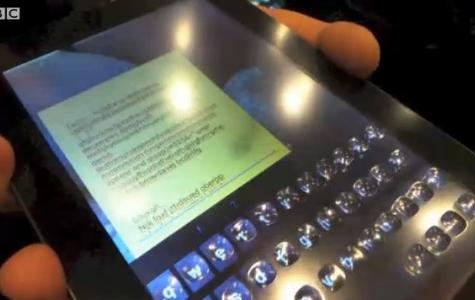 Tactus'tan Dokunmatik Ekranda Hissedilebilir Tuşlar