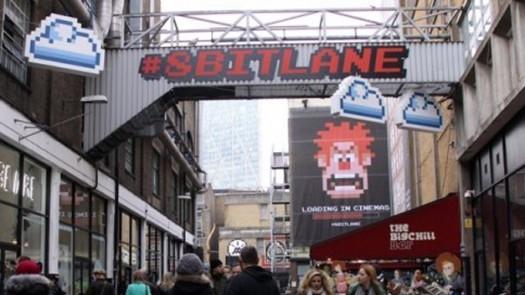 Disney'in yeni filmi Wreck-It Ralph için Londra sokakları 8-bit oldu.