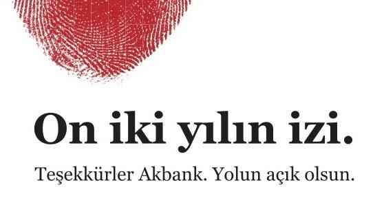 Publicis Yorum'dan Akbank'a Veda İlanı