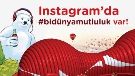 Haftanın Coca-Cola ile Instagram'da #bidünyamutluluk fotoğrafı- advertorial