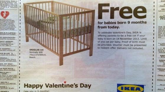 Bugün Sevişen Çiftlerin Bebek Yatağı 9 ay Sonra Ikea'dan