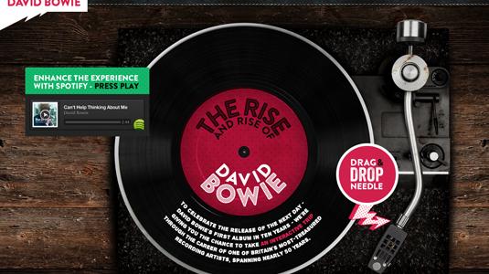 Spotify'dan David Bowie Albümü İçin İnteraktif Mikrosite