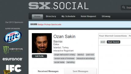 Ozan'ın SXSW Programı