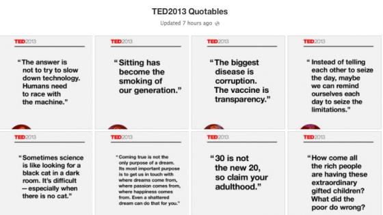TED2013'ten En İyi Alıntılar Poster Oldu