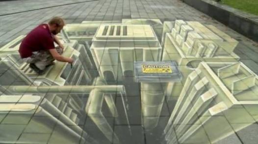 4 Boyutlu ve İnteraktif Sokak Sanatı