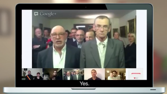 Eşcinsel Çift Google Hangouts Üzerinden Evlendi