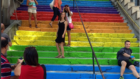 Cihangir'deki Rengarenk Merdivenin Hikayesi