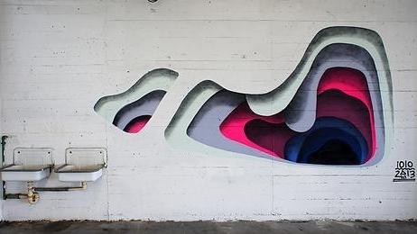 3 Boyutlu Görünen Tek Boyutlu Sokak Sanatı