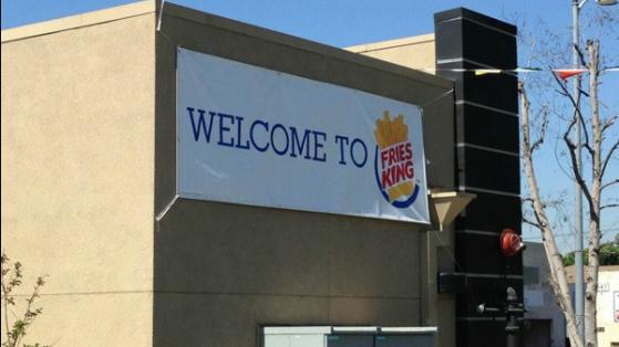Burger King'in İsmi Fries King Olarak Değişti