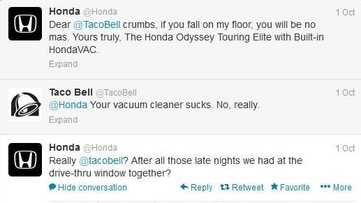 Honda Twitter'da Tüm Büyük Markalara Sararsa