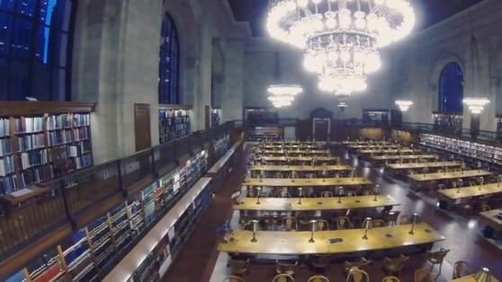 Dron Gözünden Büyüleyici New York Halk Kütüphanesi Görüntüleri