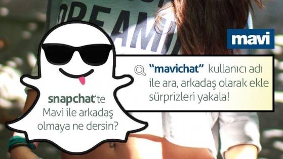 Mavi Şimdi de Snapchat'te