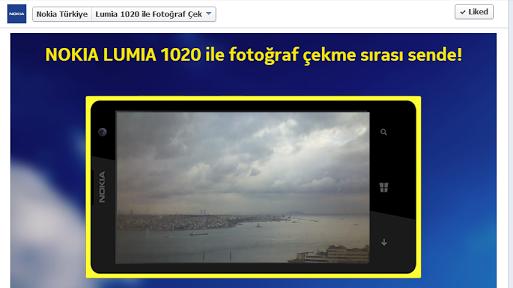 Nokia Lumia 1020 ile Facebook Üzerinden Fotoğraf Çekin