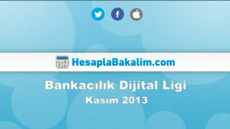 Bankacılık Sektörü Kasım 2013 Dijital Raporu