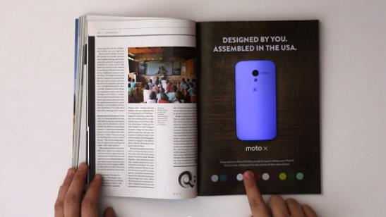 Motorola'dan Dokununca Renk Değiştiren İnteraktif Dergi İlanı