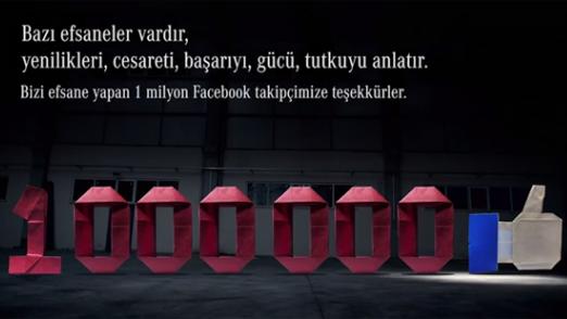 Mercedes-Benz Facebook'taki 1 Milyon Takipçisini Origami Sanatıyla Kutluyor