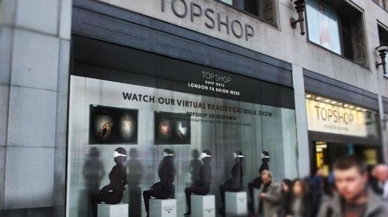 Topshop Londra Moda Haftası Defilelerini Sanal Gerçeklik İle Mağazalarına Taşıyor