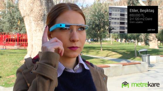 Metrekare.com'dan Google Glass İçin Yazılan Emlak Uygulaması