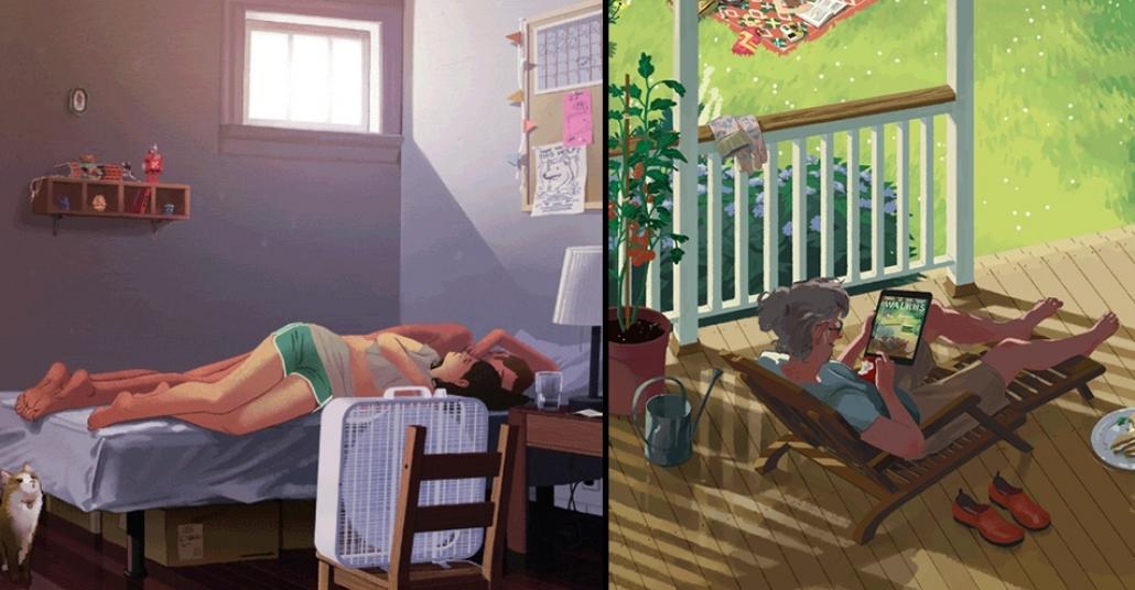 Rebecca Mock'dan Huzurlu GIF Animasyonları