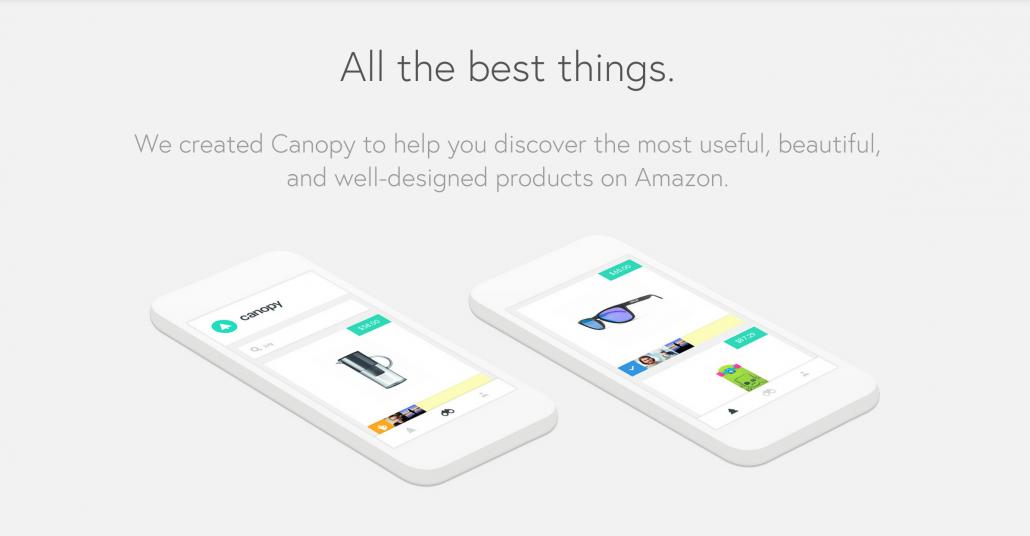 Amazon'daki Şık Ürünlere Özel Mağaza: Canopy