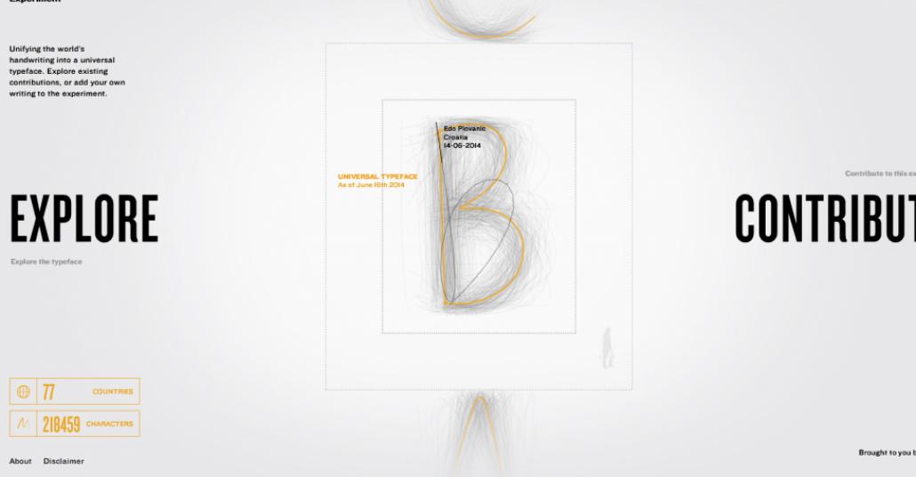 The Universal Typeface: Kitle-Kaynak Yönetimi İle Evrensel Harf Tasarımı
