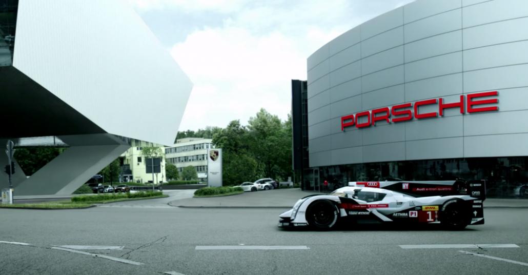 Audi'den Porsche'ye Le Mans Yarışına Hoşgeldin Ziyareti