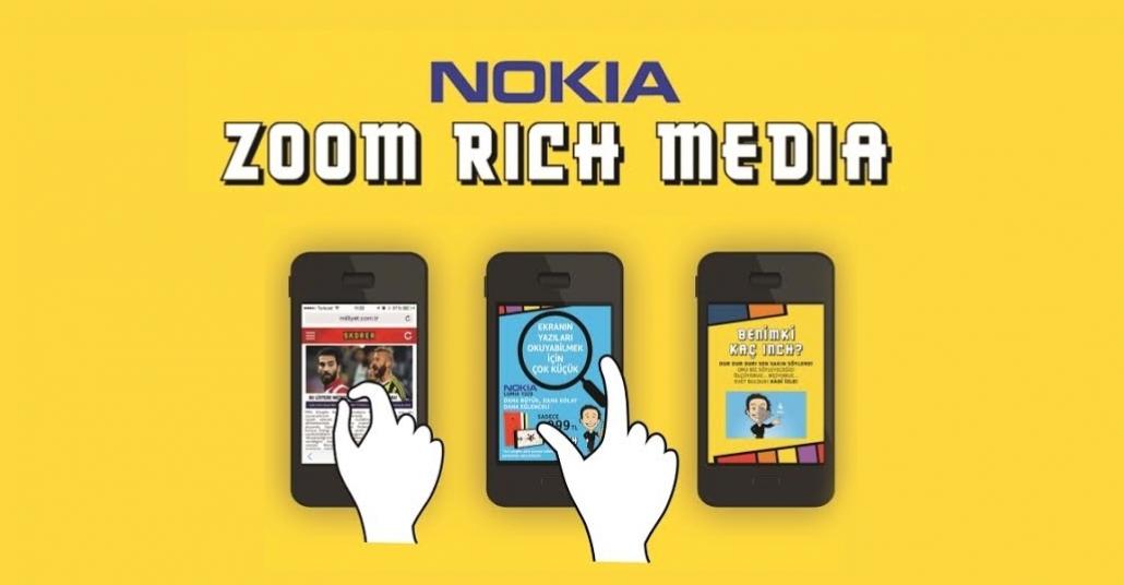 """Geniş Ekranlı Nokia Lumia 1320 Tanıtımı İçin """"Zoom Rich Media"""""""