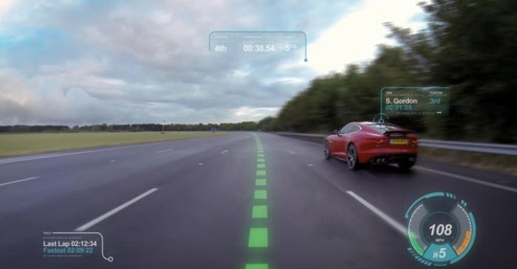 Jaguar'ın Sanal Ön Cam Teknolojisi