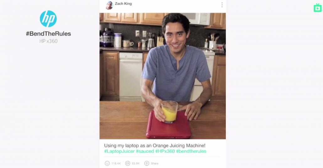 HP'nin Yeni Reklam Filmi Vine Videolarından Oluşuyor