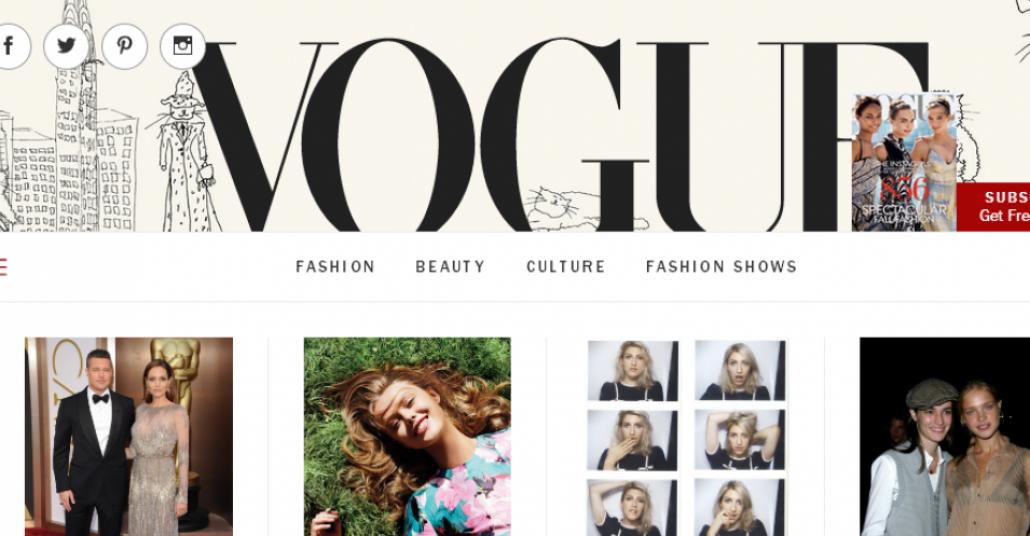 Yeni Tasarımıyla Vogue.com