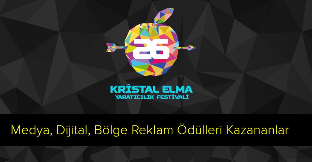 26. Kristal Elma Medya, Dijital ve Bölge Ödülleri Kazananlar [Kristal Elma 2014]