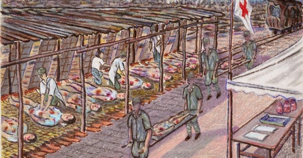Hiroşima'da Bombadan Kurtulanların Çizdiği Resimler