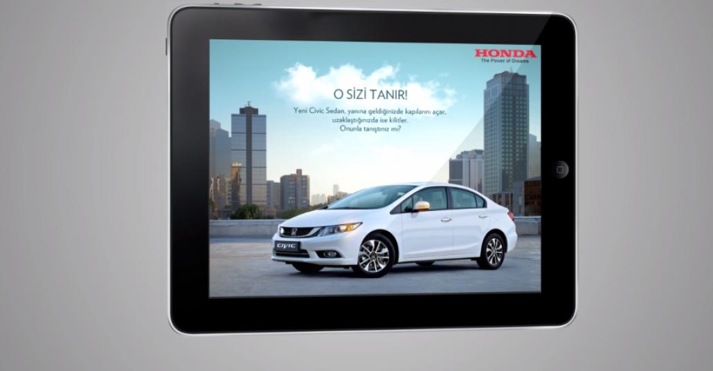 Honda Civic – Anahtarsız Giriş iPad İlanı