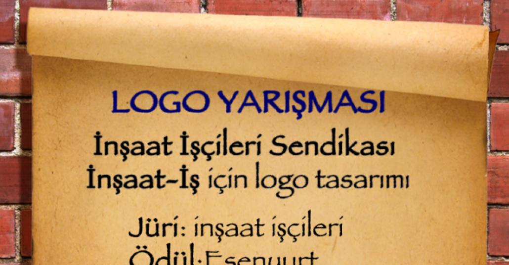 İnşaat İşçileri Sendikası Logo Yarışması