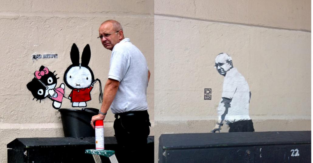 Graffiti Silen Adam Graffitisi