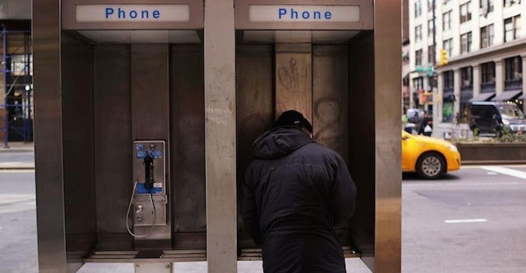 New York'taki Telefon Kulübelerinde Beacon Takibi