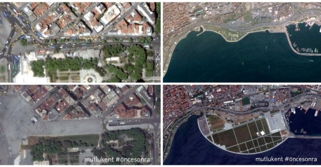 Google Earth ile 10 Sene Önce ve Bugün İstanbul