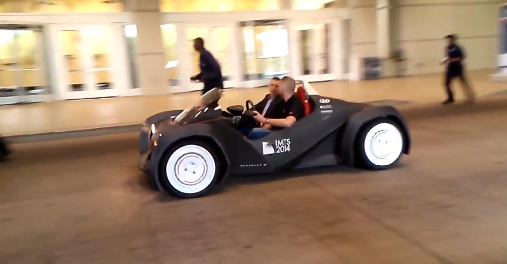 3 Boyutlu Yazıcı ile Yapılan İlk Araç Test Sürüşünde