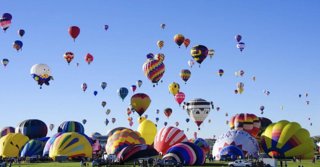 Uluslararası Balon Festivali'nden Hızlandırılmış Çekim Görüntüler