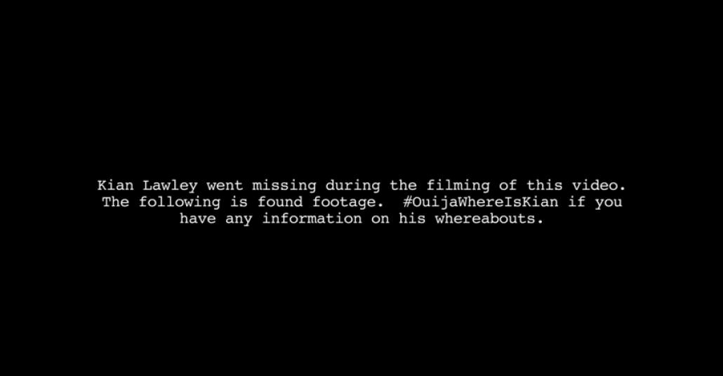 """Korku Filmi """"Ouija"""" için YouTube Yıldızı Kayıplara Karıştı"""