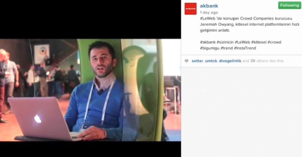 Akbank ve Bigumigu'dan Instagram'da Trend Videoları [LeWeb 2014]