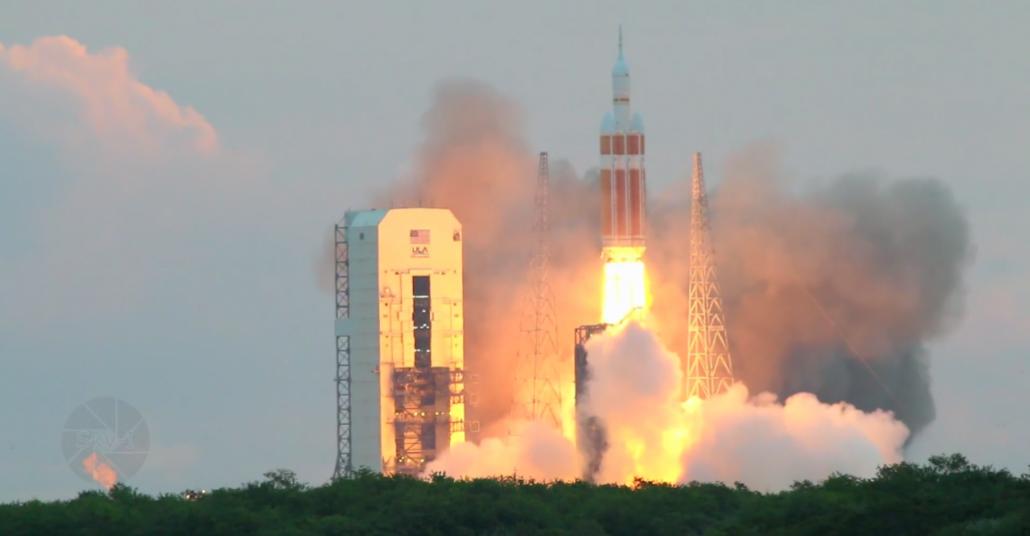 Uzay Aracı Orion'ın Fırlatışının Hızlandırılmış Videosu
