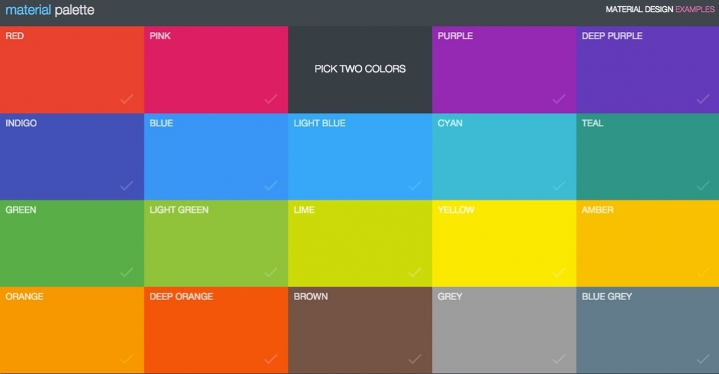 Düz Renklerle Arayüz Tasarlama Aracı