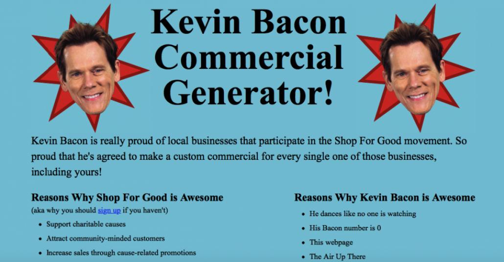 Kevin Bacon'dan Yerel Esnaf İçin Ücretsiz Reklam Filmi Oluşturma Aracı