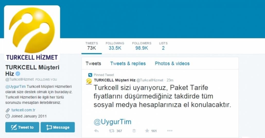 Turkcell Müşteri Hizmetleri Twitter Hesabı Hacklendi