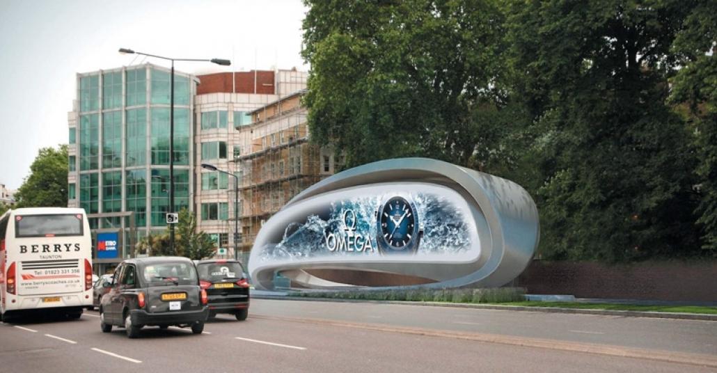 Zaha Hadid Tasarımı Dijital Reklam Panosu Bigumigu