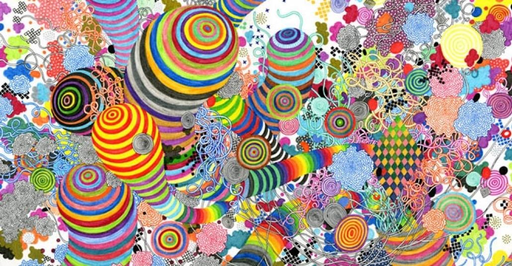 Çarpıcı Renk Paletiyle Üretilen Çağdaş Sanat Eserleri