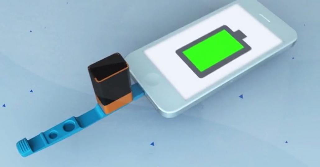 Pille Çalışan Taşınabilir Şarj Cihazı