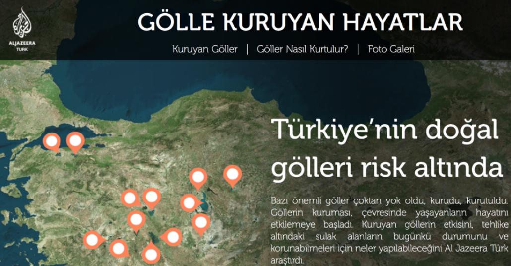 Al Jazeera Türk'ten Kuruyan Göllere Yönelik Etkileşimli Harita
